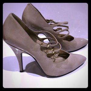 Sam Edelman strappy heels gray